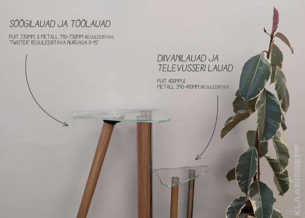 Disaini ise omale klaasist laud