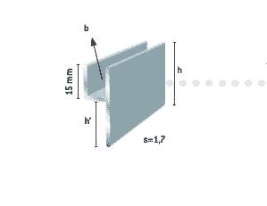 Y-profiil 8mm klaasile